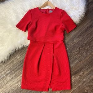 Asos Double Layer Red Wiggle Mini Dress